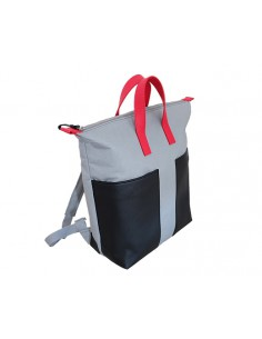 SEMURA BACKPACK-C1 ( LIGHT GREY-RED)