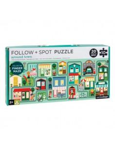 Petit Collage - Follow + Spot Puzzle