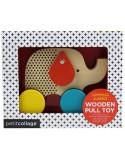 Petit Collage - Jumping Jumbo Elephant Wood Pull Toy