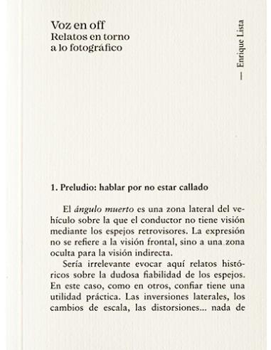 Enrique Lista, Voz en off
