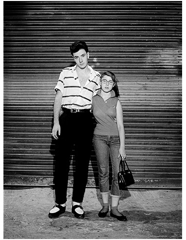 Junto al pub Siroco, Madrid, 1990