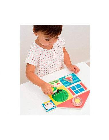 Puzzle apilable madera
